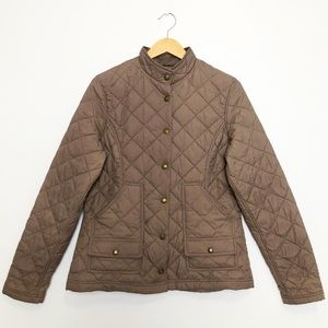 C.C. Filson Co. Women's Quilted Nylon Field Jacket Taupe Medium